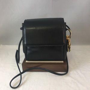 Vintage Christian Dior Black Leather Bag